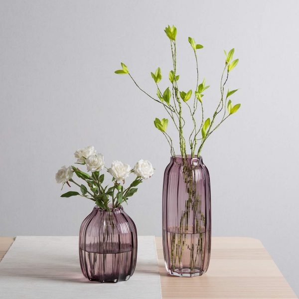 BUY IT · Colored Ribbed Glass Vase ... & 51 Glass Vases To Fill Your Home With Flowers And Delight
