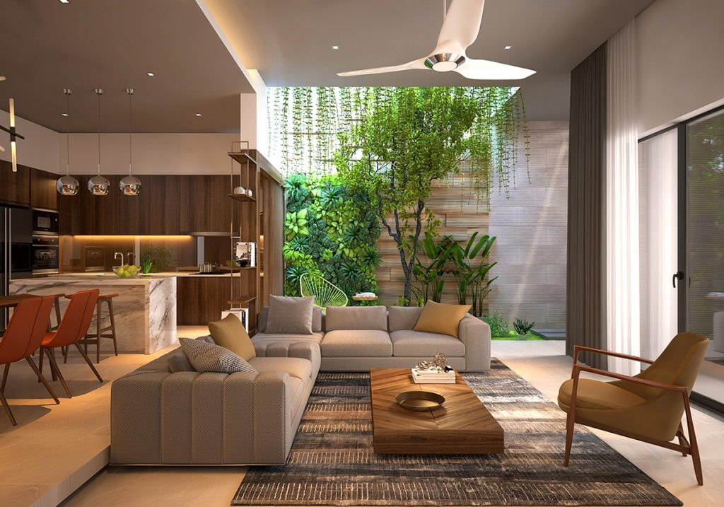 4 Homes That Feature Green Spaces Inside With Courtyards