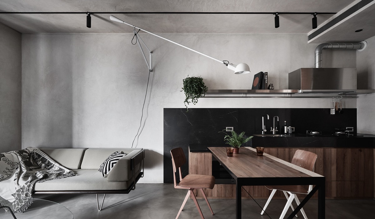Small Apartment With Space Saving Ideas And Multifunctional ...