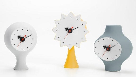 Product Of The Week: Cute Mid Century Modern Ceramic Clocks