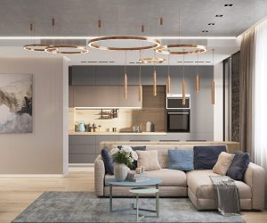 First Class Family Home With Blue Pink And Gold Decor