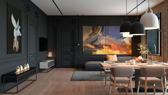 An Eclectic Minimalist Apartment