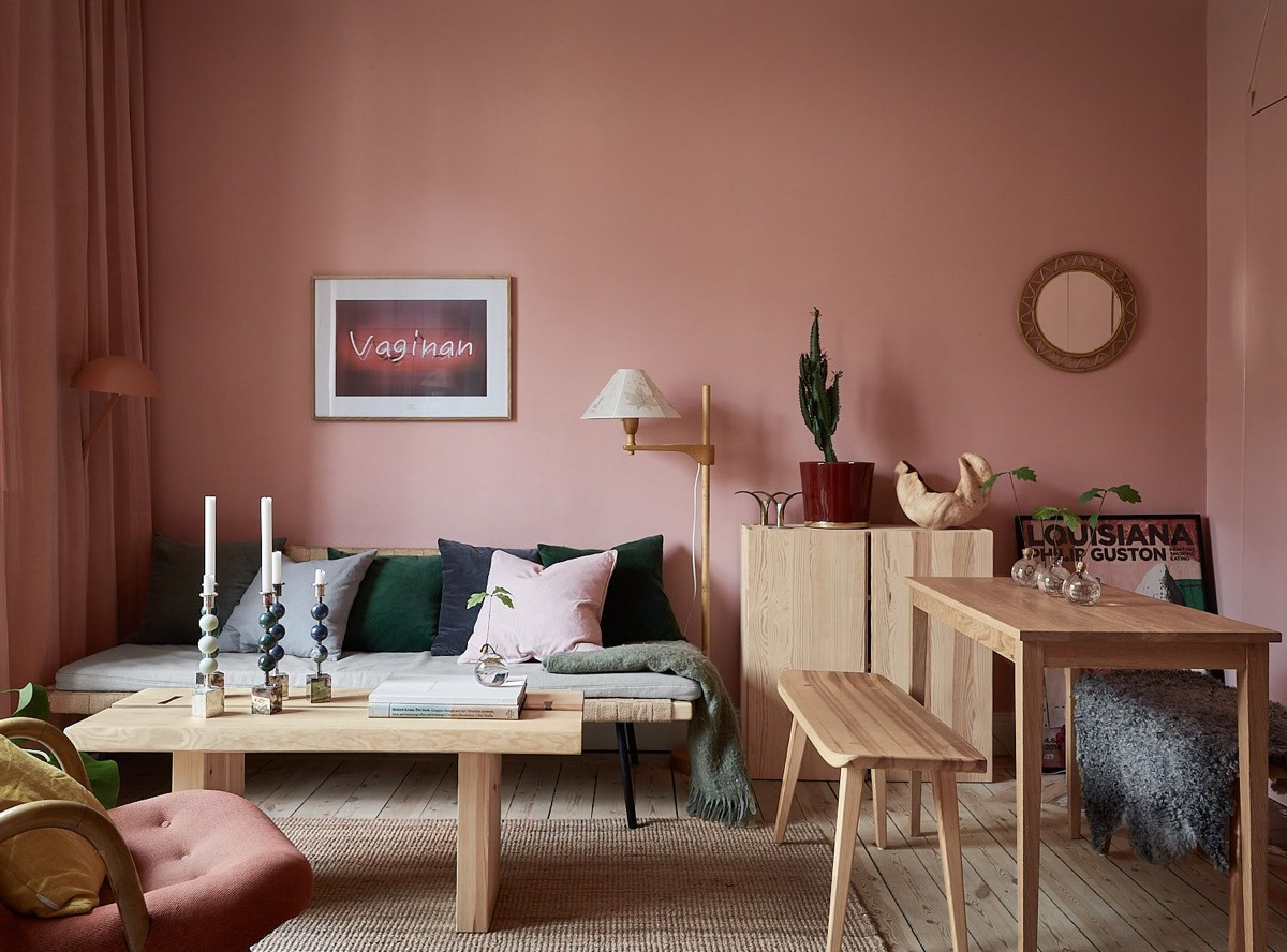 51 Pink Living Rooms With Tips, Ideas And Accessories To Help You ...