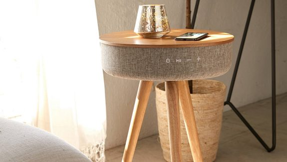 Product Of The Week: Smart Table With Built in 360° Bluetooth Speaker & Wireless Qi Charger