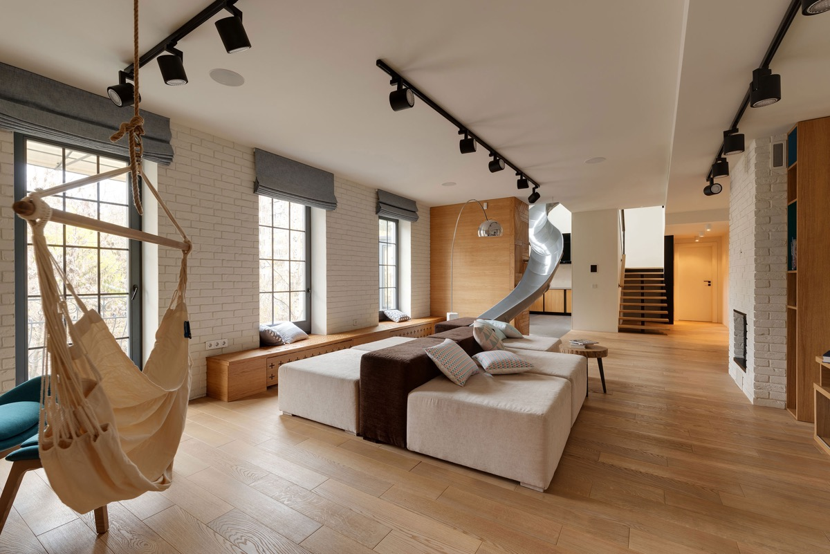 Penthouse Apartment Redevelopment With A Slide