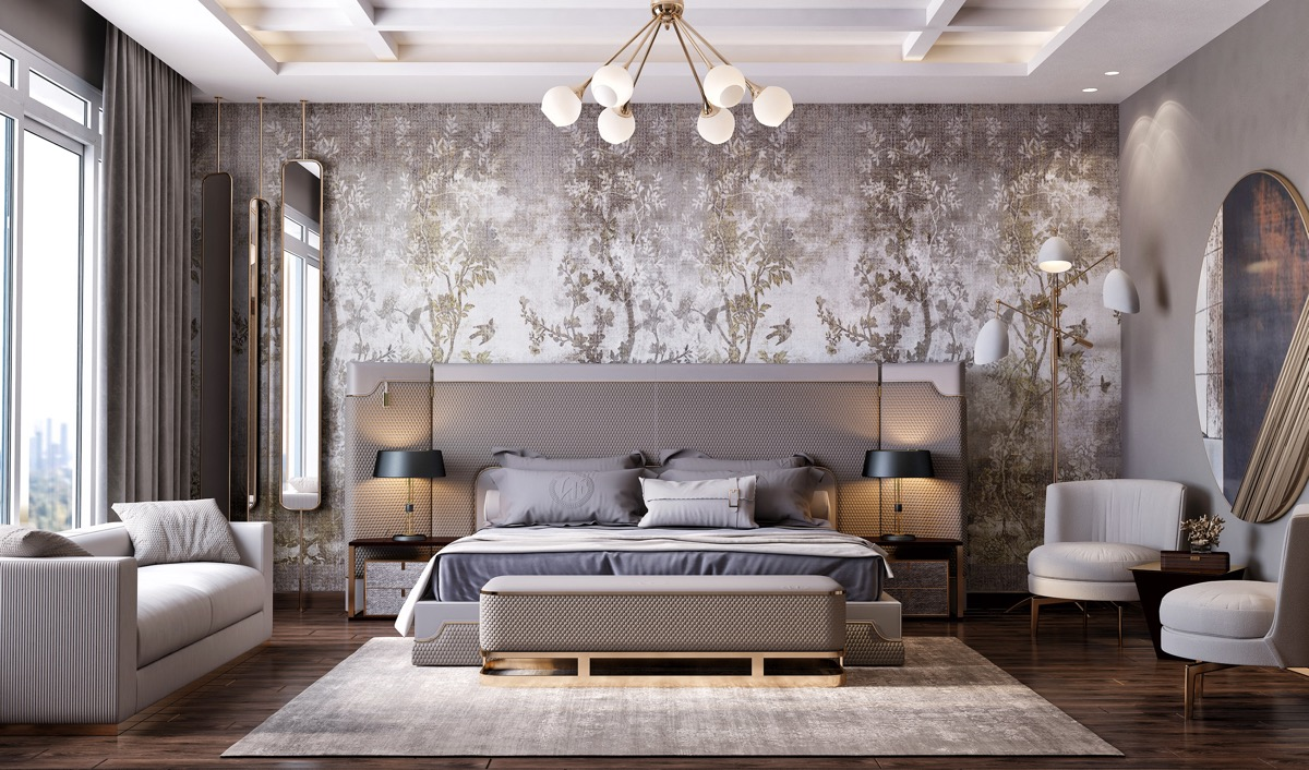 Home Design Ideas and Tips: bold wallpaper ideas for transitional bedrooms