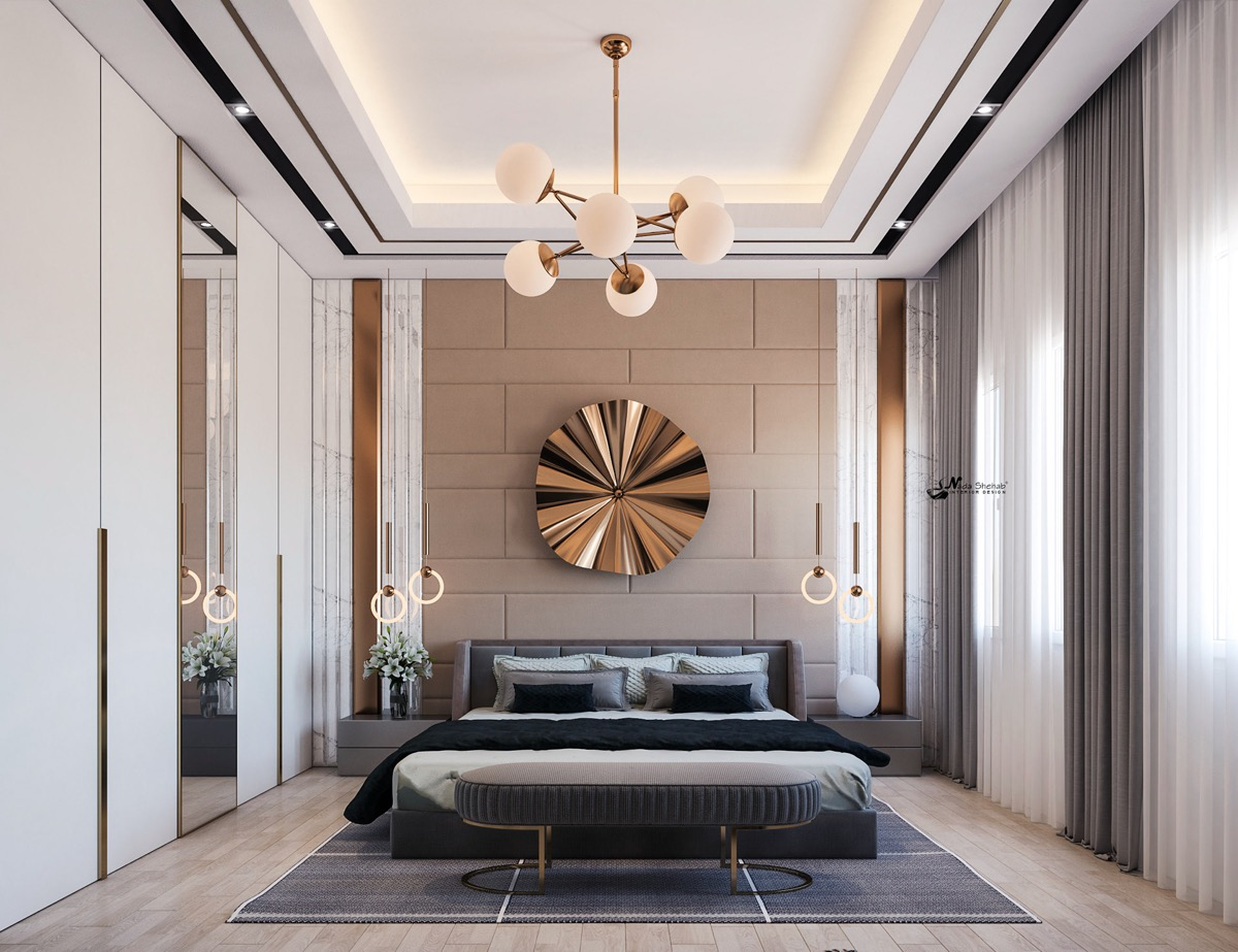 Home Design Ideas and Tips: metallic accessory tips for transitional bedrooms