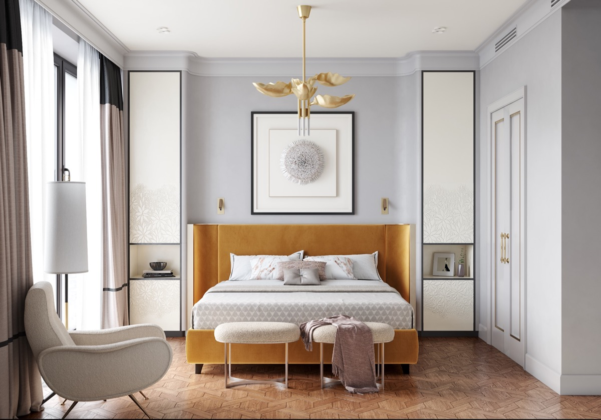 Home Design Ideas and Tips: modern and retro accessory ideas for transitional bedroom design