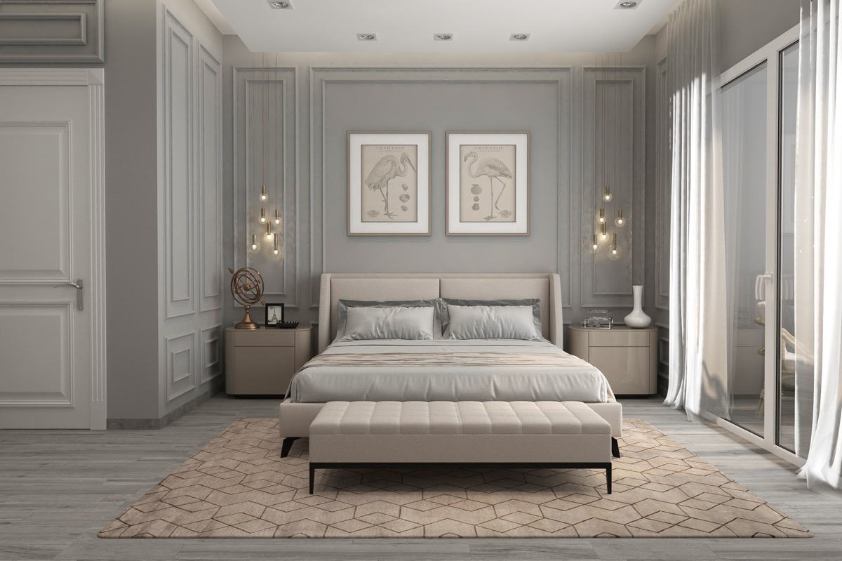 Home Design Ideas and Tips: pastel color palette for transitional bedrooms