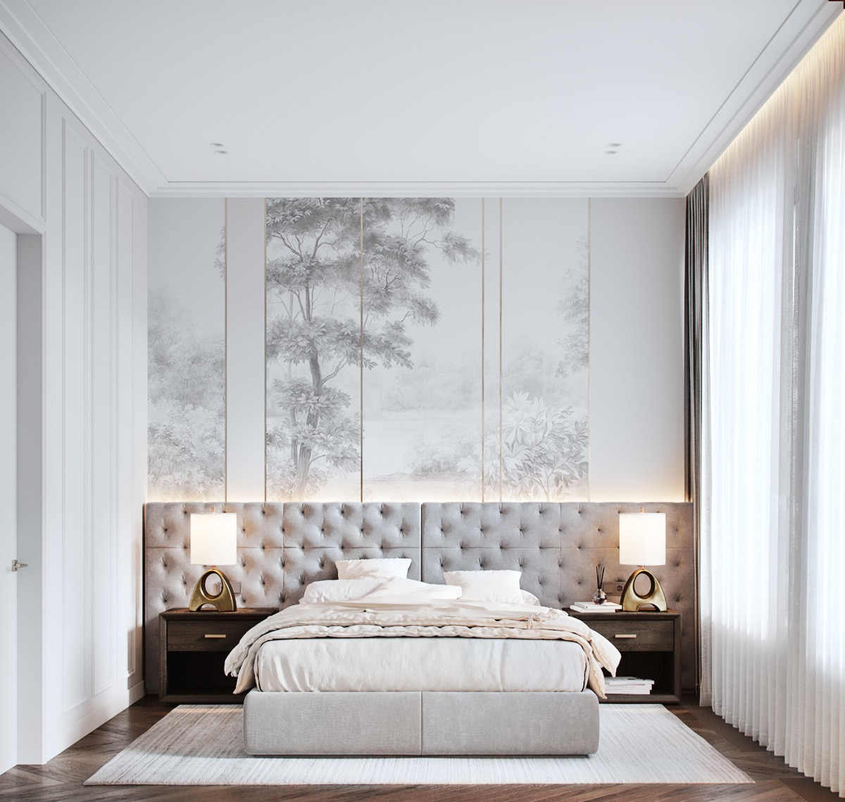 Home Design Ideas and Tips: transitional bedroom design tips and ideas for light colors and subtle