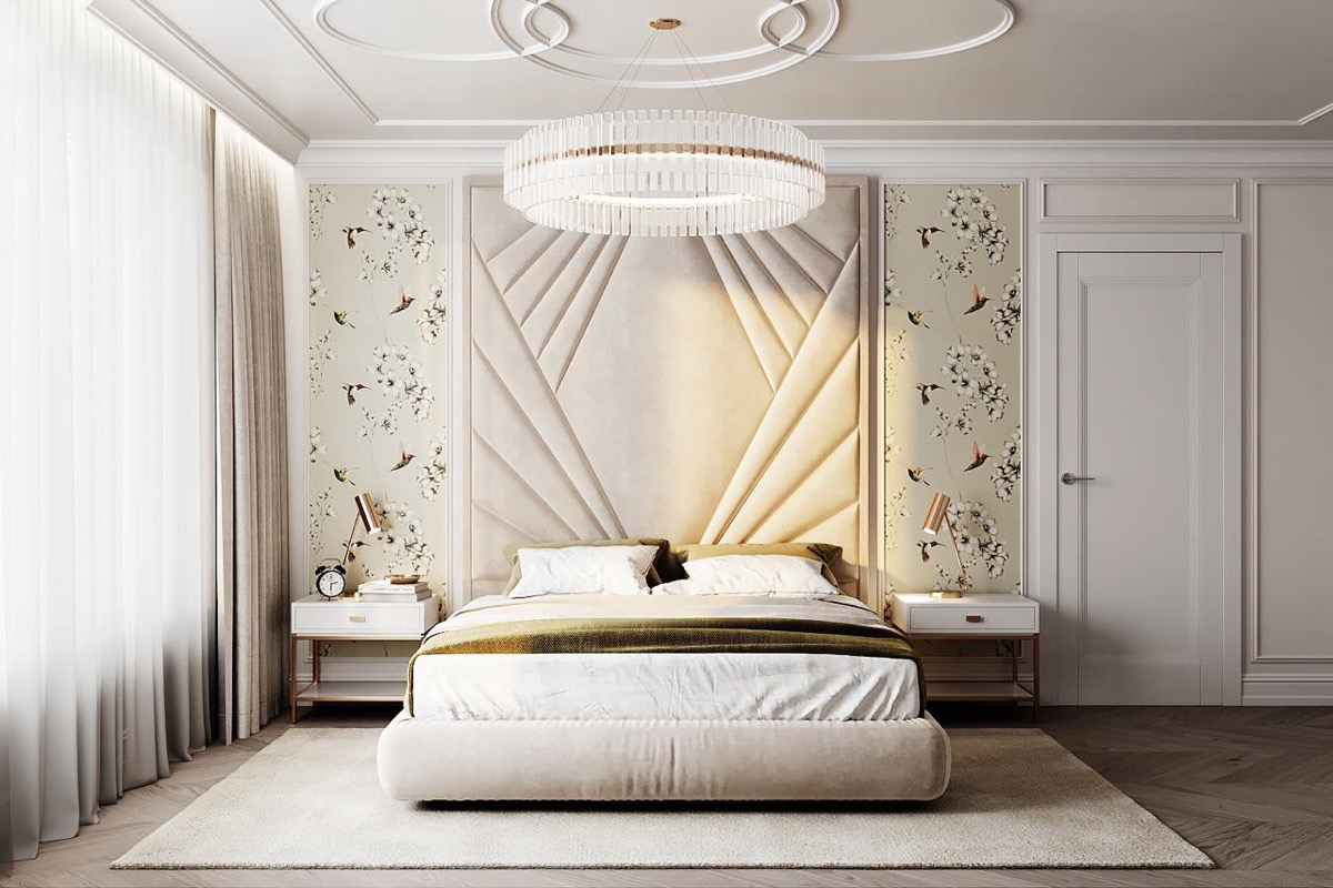 Home Design Ideas and Tips: wallpaper tips for transitional bedroom interior design