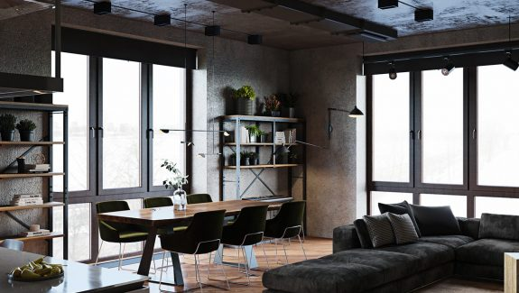 Luxury Apartment With An Industrial Vibe And A Cool Hallway [With Floor Plans]