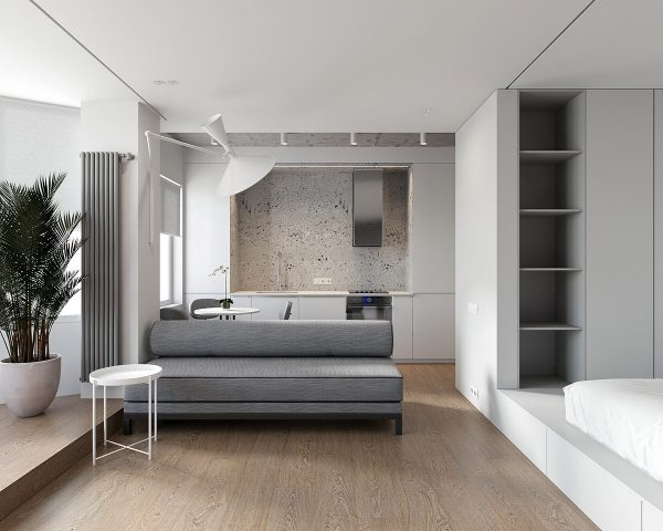 Interior and Furniture Designs: Two Minimalist Studio ...