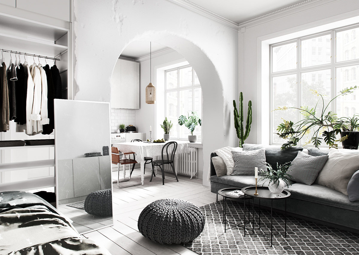 3 Homes Inspired By Different Takes On Nordic Interior Design Themes,Wooden Door Design For Home India