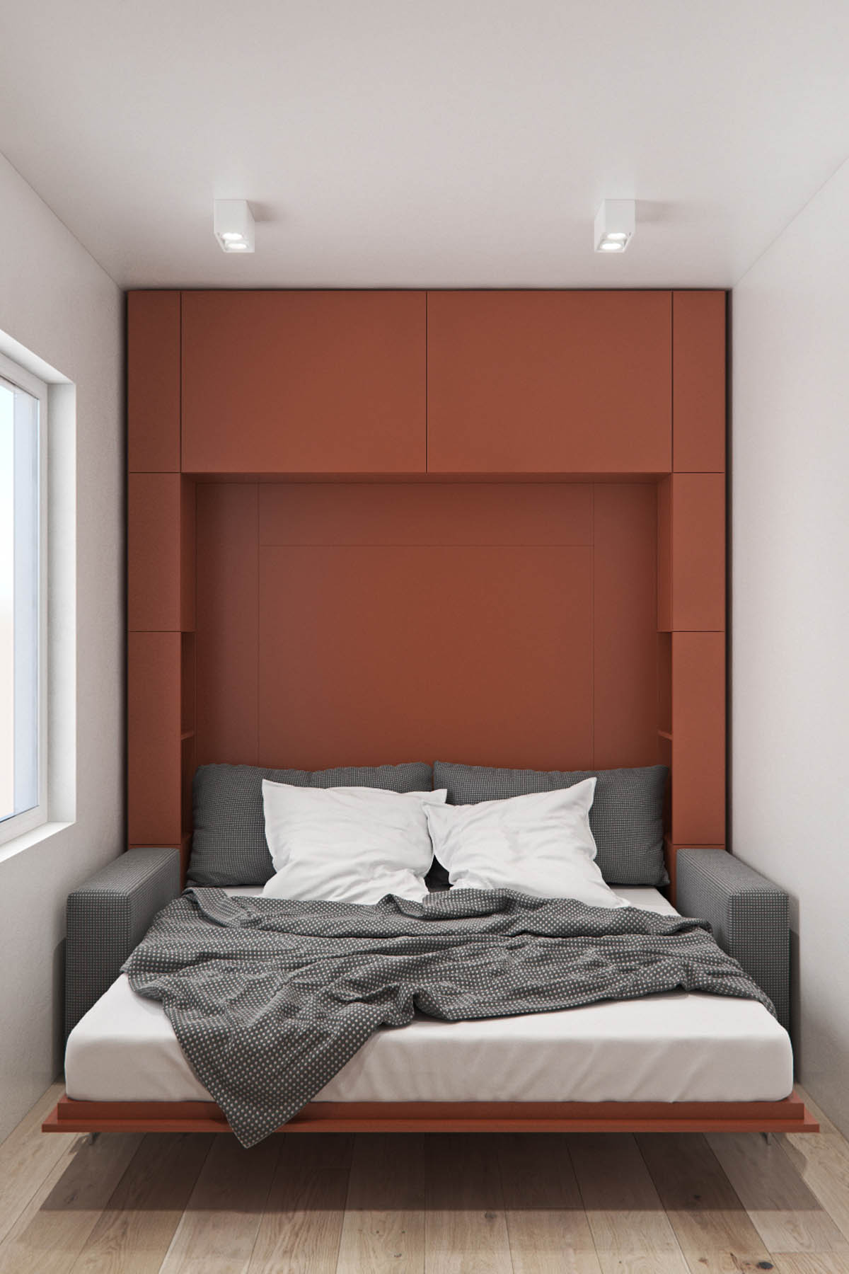 red murphy bed