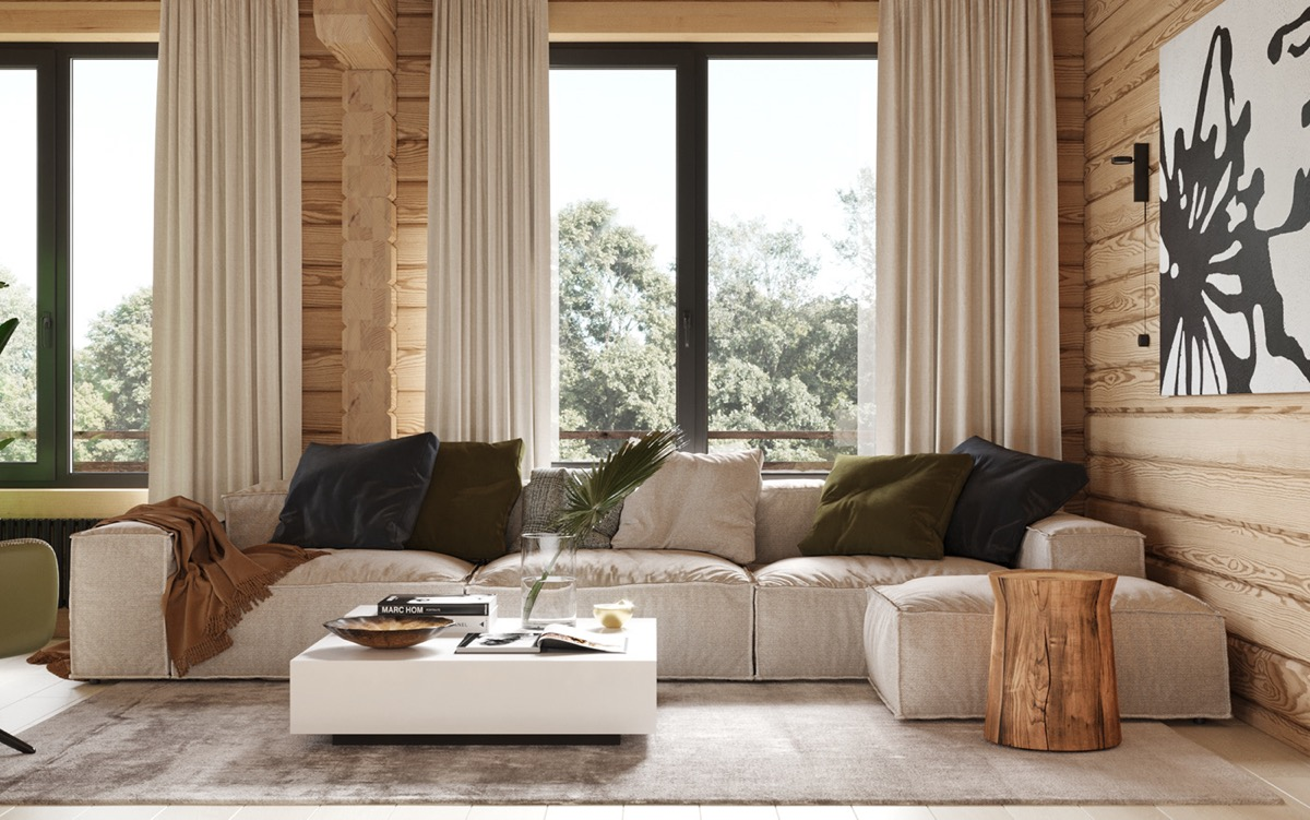 rustic living room - View Small House Modern Living Room Design  Pictures