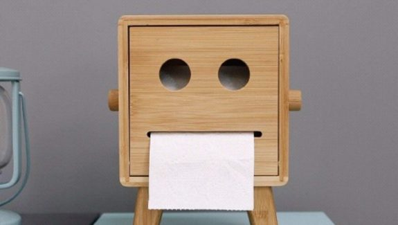 Product Of The Week: A Cute Robot Toilet Paper Holder