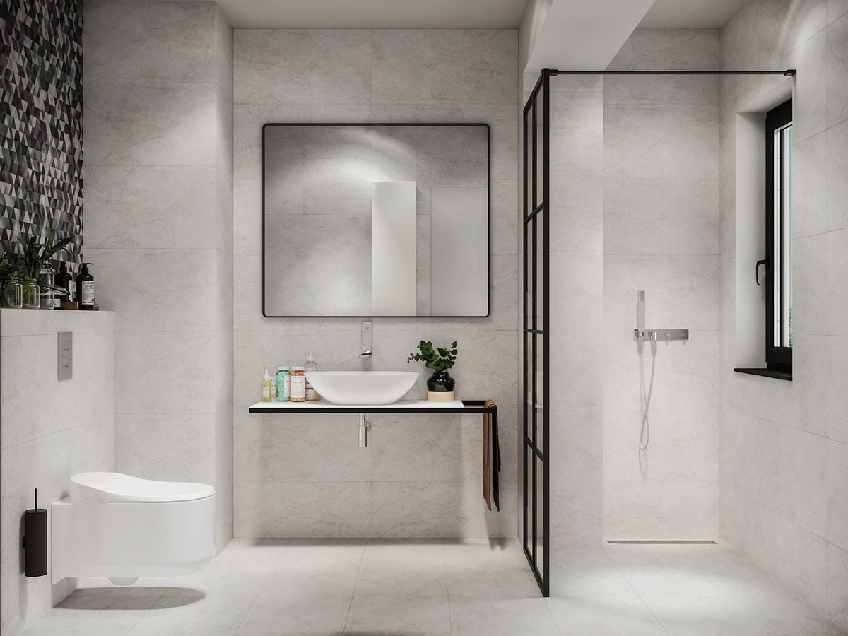 black and white bathroom 2