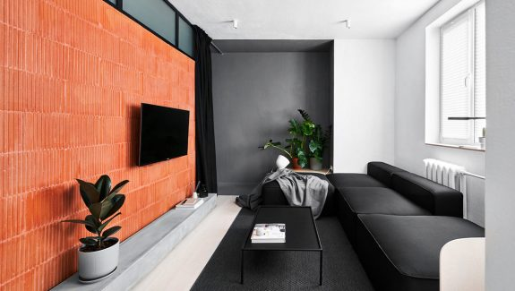 Small Apartments Under 40sqm In Sharp Black, White & Wood Decor (With Floor Plans)