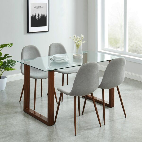 Small Dining Table Set For 4, 51 Glass Dining Tables That Create An Upscale Atmosphere For Every Meal