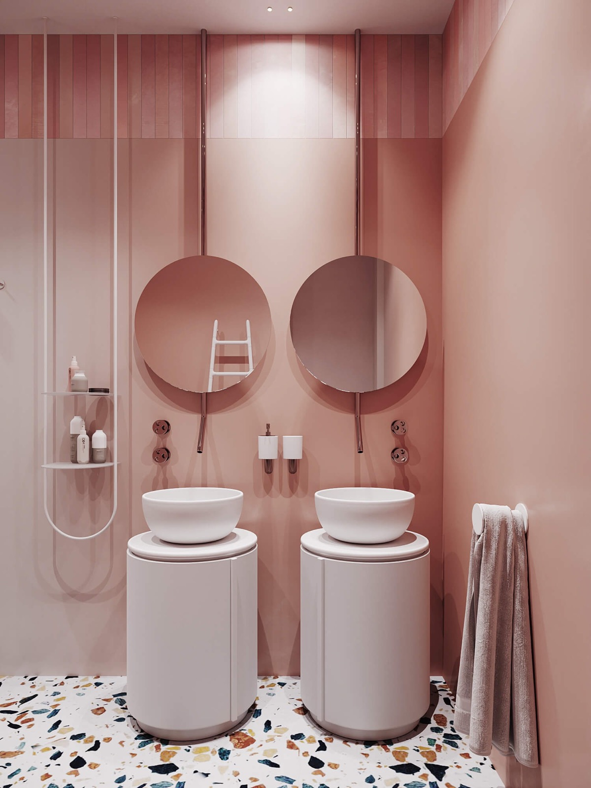 4 Pink Bathrooms With Tips, Photos And Accessories To Help You