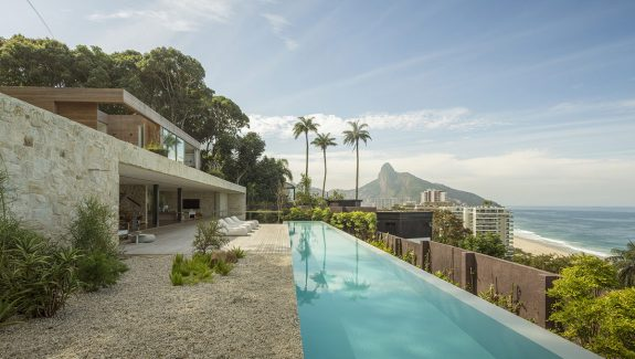 Sea Views And Stone Walls Shape A Luxury Modern Home In Brazil