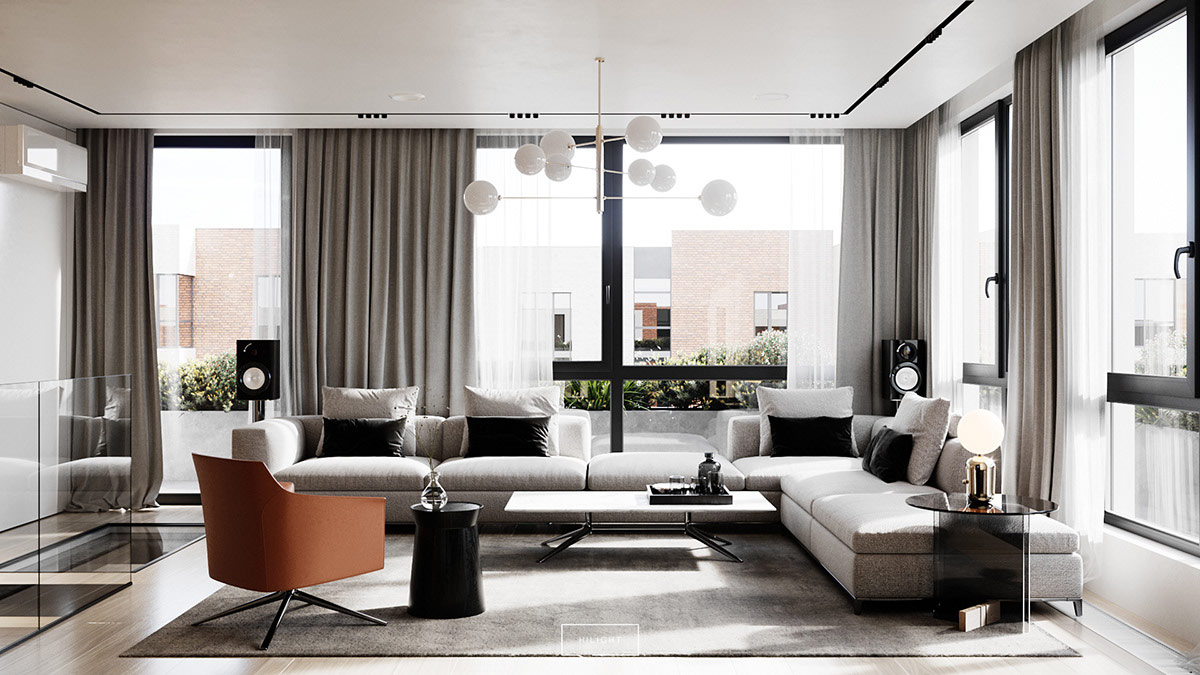 Elegance And Class Wrapped In Two Modern Interiors