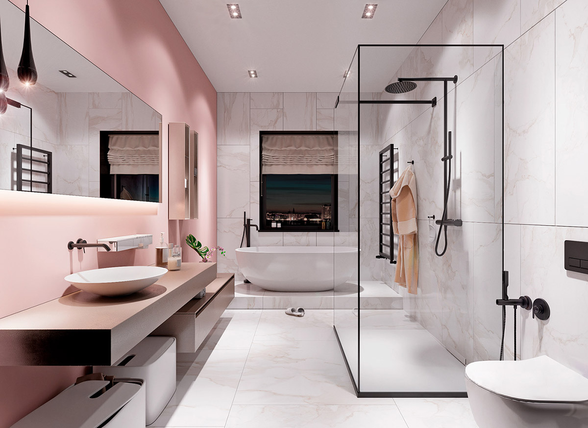 51 Pink Bathrooms With Tips, Photos And Accessories To ...