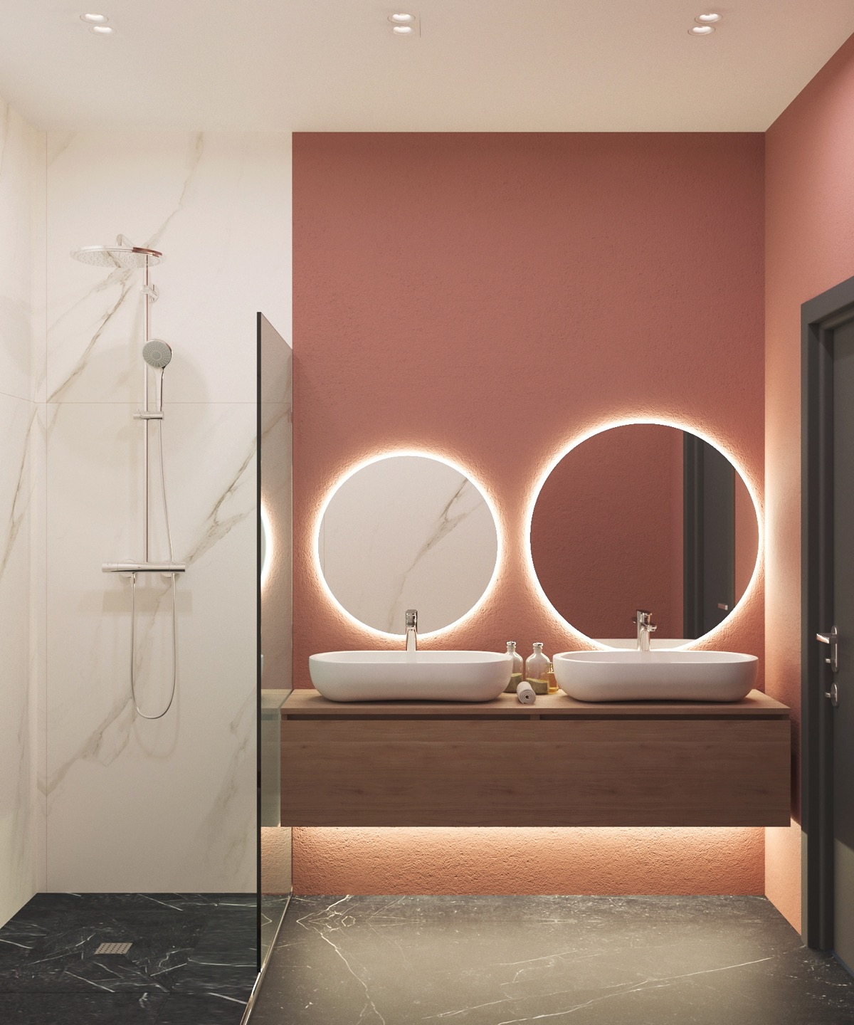 51 Pink Bathrooms With Tips Photos And Accessories To Help You Decorate Yours,Ikea Malm Twin Bed With Drawers Instructions