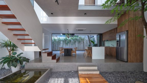 Open Plan Home Design With Connected Family Living Spaces On All Floors