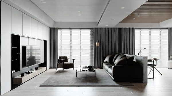 Decorating Minimalist Spaces With Monochrome Melds