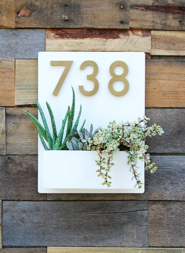 Brass Outdoor House Number Sign Door Number Plaque Building Number Signage