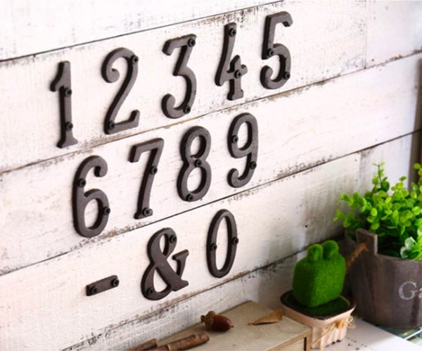 3 inch Modern House Address Numbers Letters color choices