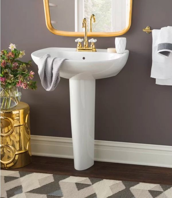 Home Design Ideas and Tips: Toto pedestal sink for modern bathrooms glossy white finish minimalist design