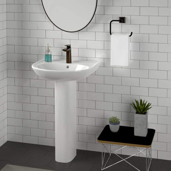 Home Design Ideas and Tips: cheap white pedestal sink minimalist design for modern bathrooms space spaces