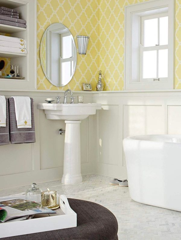 Home Design Ideas and Tips: farmhouse pedestal sink classic style with soap holders vanity spacious design