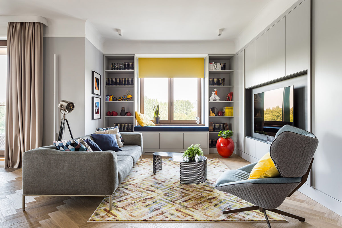 Home Design Ideas and Tips: Improving Homes With Blue And Yellow Decor