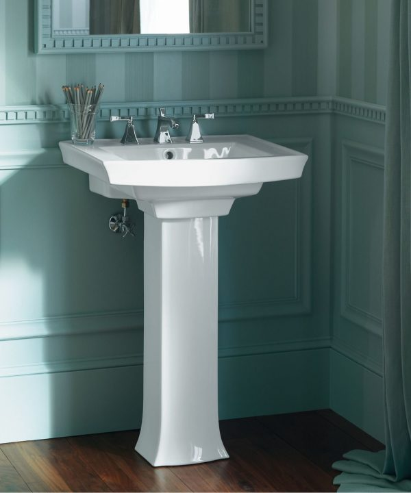 Home Design Ideas and Tips: kohler archer pedestal sink for small to medium size bathrooms