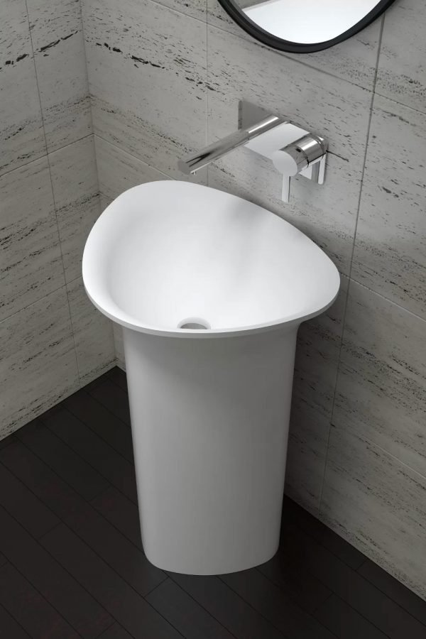 Home Design Ideas and Tips: smooth triangle pedestal sink modern sink for contemporary bathroom design