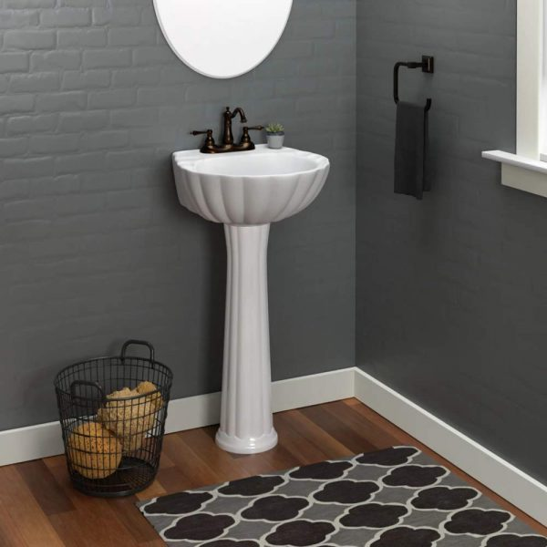 Home Design Ideas and Tips: vintage pedestal sink for classic art deco bathroom themes traditional design