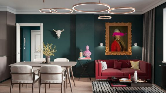 Dark Green And Handsome Home Interiors