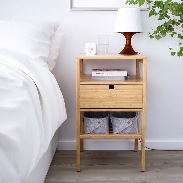 1//Pair Chic Bedside Tables With Drawer Cabinet Nightstand Bedroom Storage
