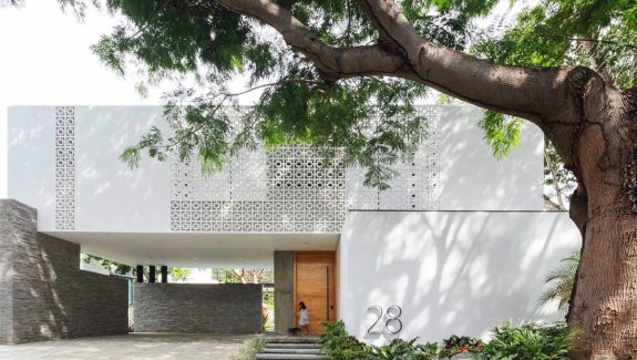 Luxury Family Home In Mexico With A Paper Tree Courtyard