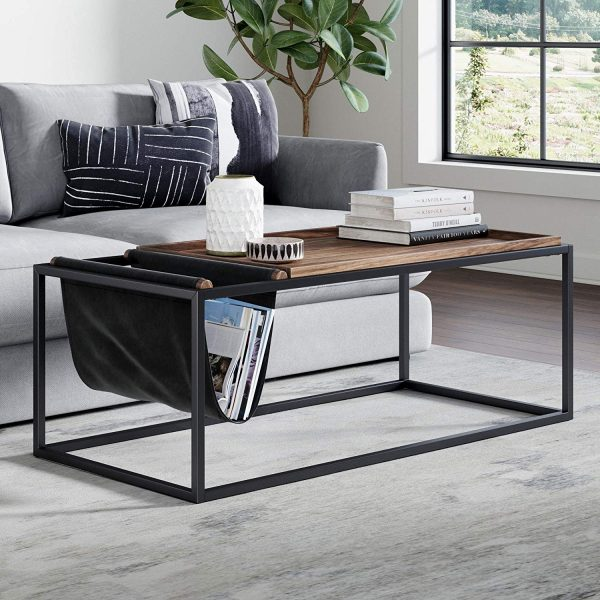 51 Rectangle Coffee Tables That Stand Out With Style And Functionality - Small Black Metal Rectangle Side Table