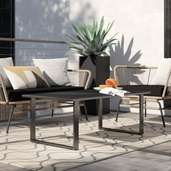 Home Design Ideas and Tips: black outdoor coffee table for modern patio furniture themes