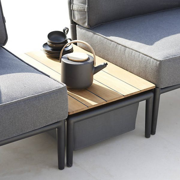 Home Design Ideas and Tips: designer low outdoor coffee table with fabric built in storage basket scandinavian patio furniture for sale online