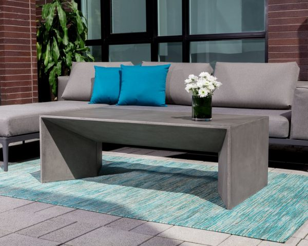 Home Design Ideas and Tips: outdoor concrete coffee table modern patio furniture for industrial contemporary furniture theme