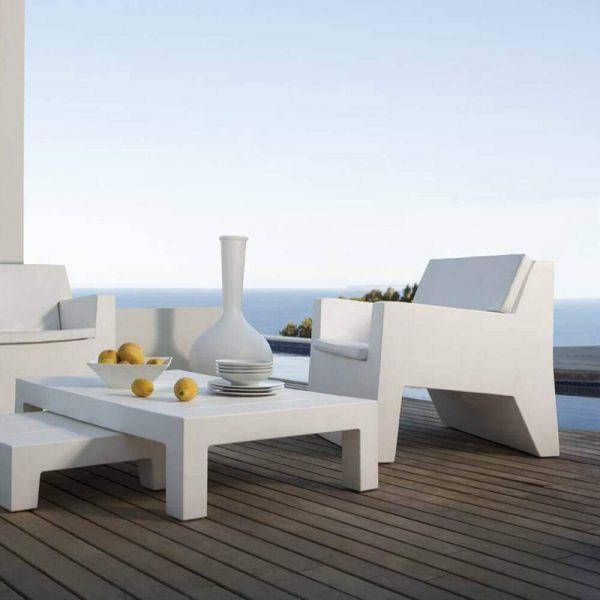 Home Design Ideas and Tips: resort grade low outdoor coffee table white plastic design 11 inches tall