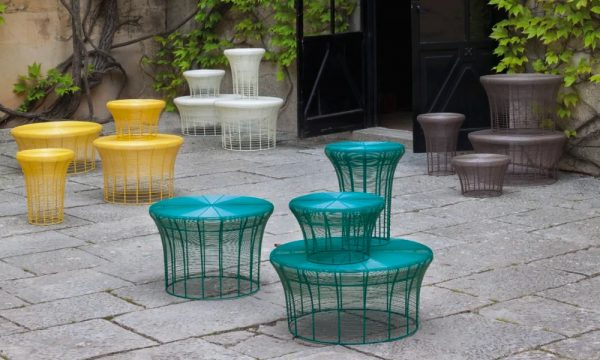 Home Design Ideas and Tips: round metal wire coffee table bright color patio furniture inspiration