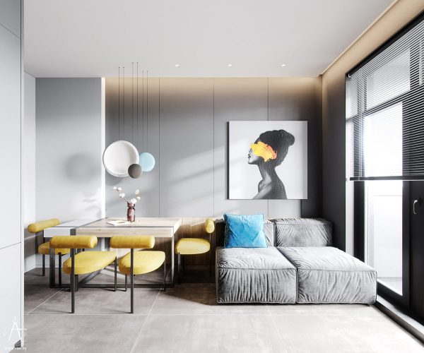 Creating Bounce With Blue and Yellow Accent Decor